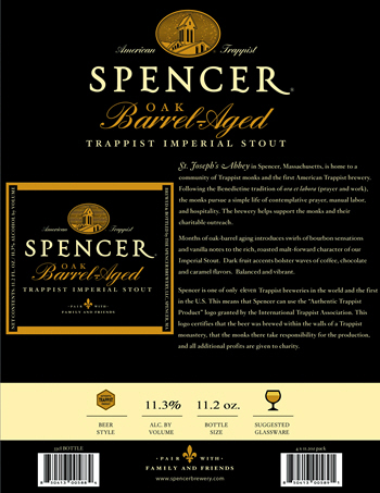 Spencer OBA Trappist Imperial Stout Sell Sheet 1