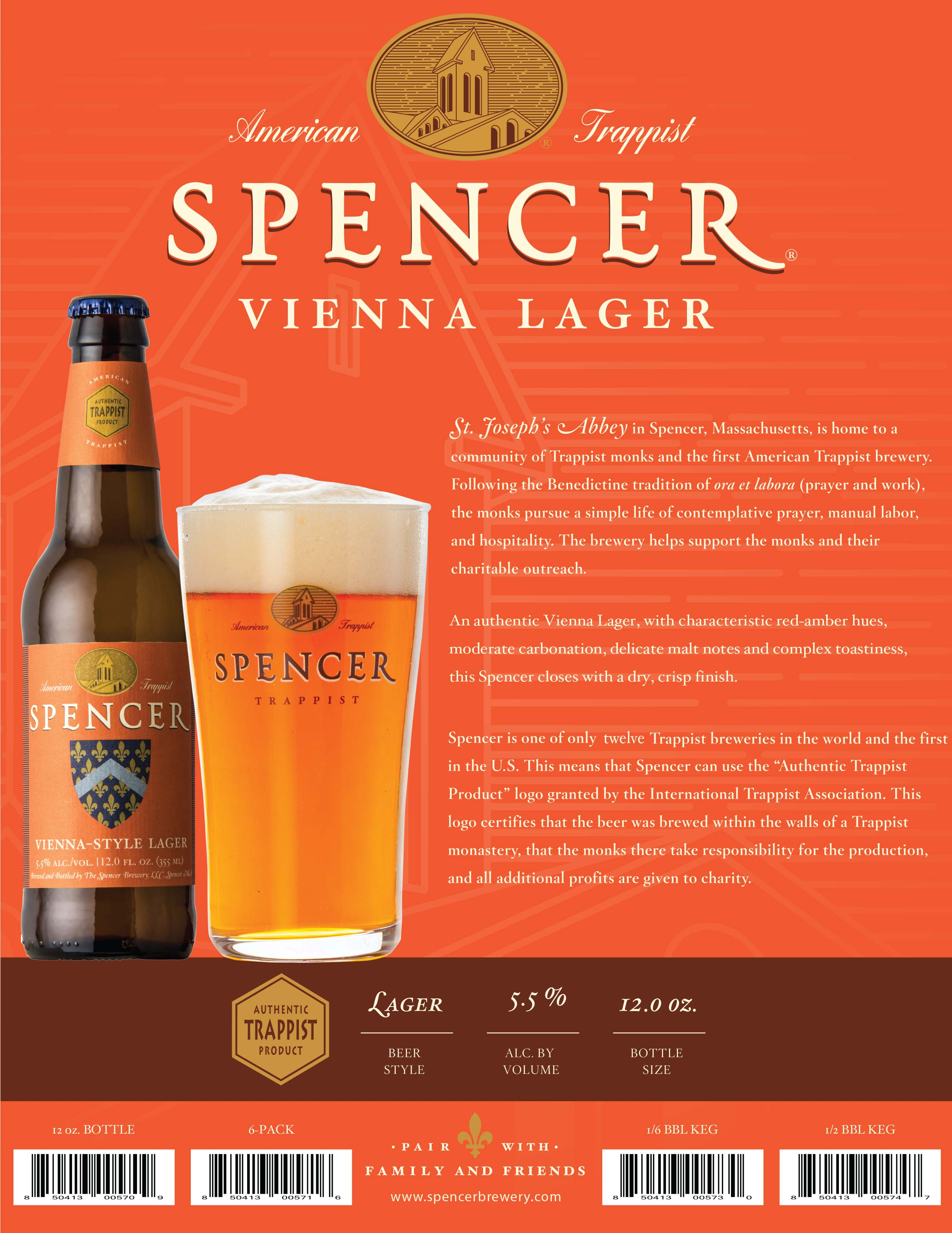 Spencer Vienna Lager Sell Sheet