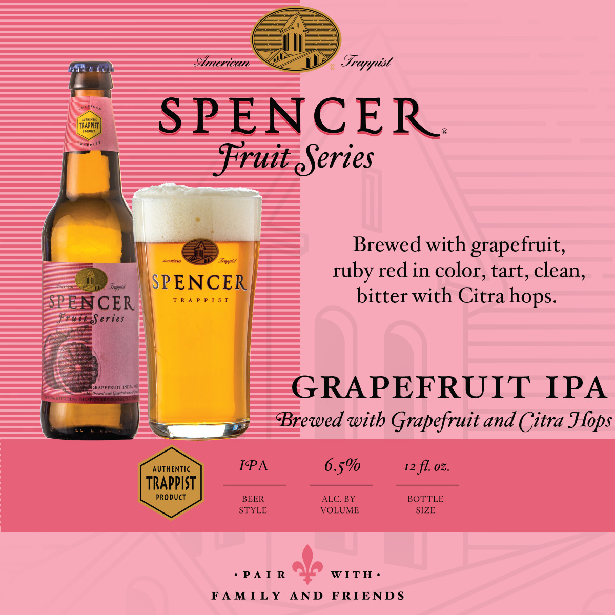Grapefruit IPA Shelf Talker 4x4